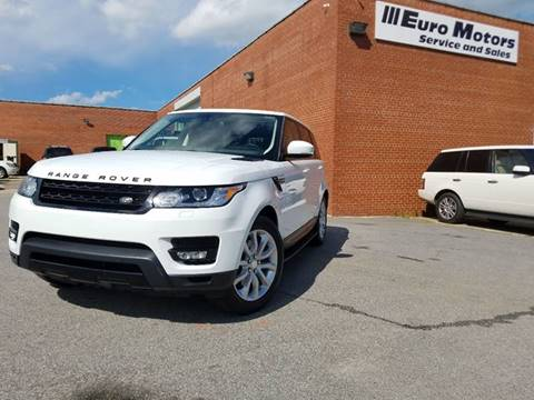 2014 Land Rover Range Rover Sport for sale at Euro Motors LLC in Raleigh NC