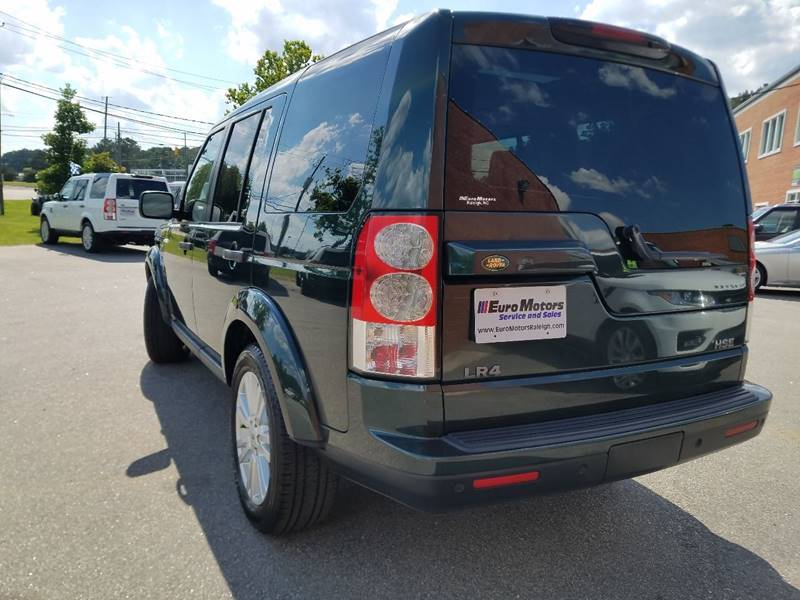 2010 Land Rover LR4 for sale at Euro Motors LLC in Raleigh NC
