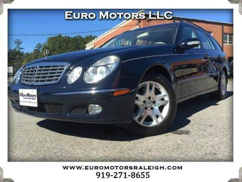 2004 Mercedes-Benz E-Class for sale at Euro Motors LLC in Raleigh NC