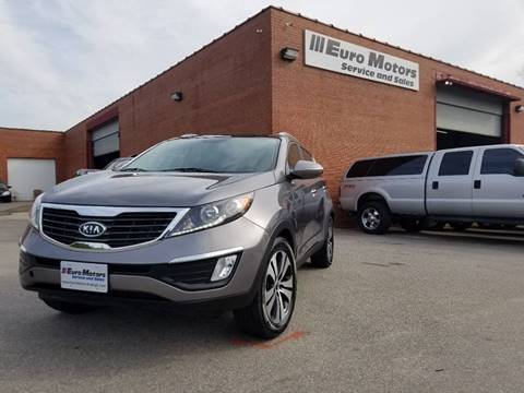 2012 Kia Sportage for sale at Euro Motors LLC in Raleigh NC