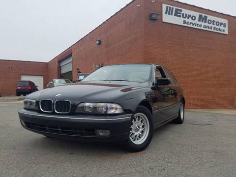 1998 BMW 5 Series for sale at Euro Motors LLC in Raleigh NC