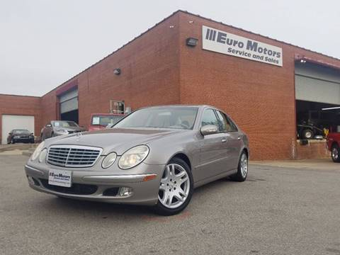 2003 Mercedes-Benz E-Class for sale at Euro Motors LLC in Raleigh NC