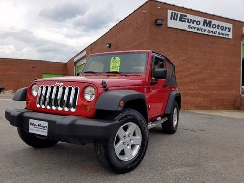 2007 Jeep Wrangler for sale at Euro Motors LLC in Raleigh NC