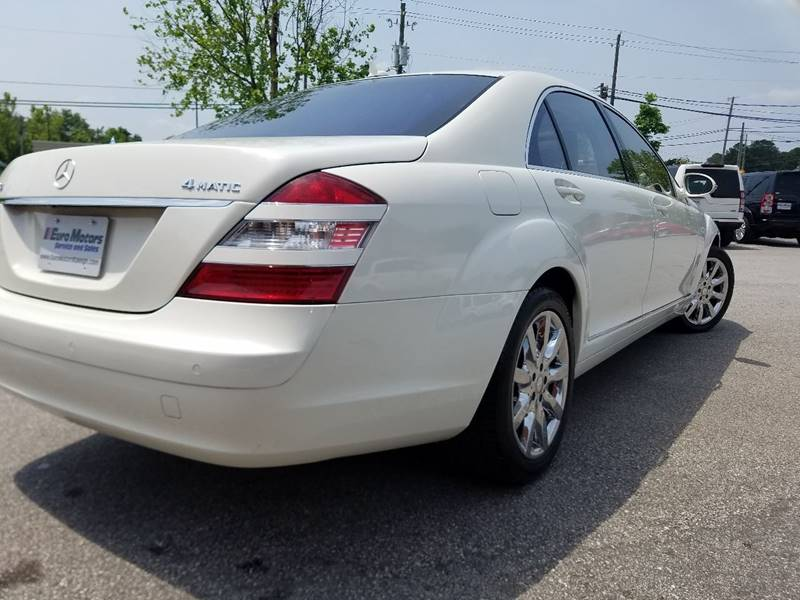 2008 Mercedes-Benz S-Class for sale at Euro Motors LLC in Raleigh NC