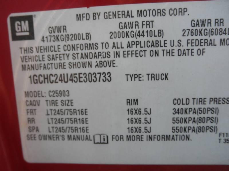 2005 Chevrolet Silverado 2500HD 2dr Standard Cab Rwd LB - Lexington TN