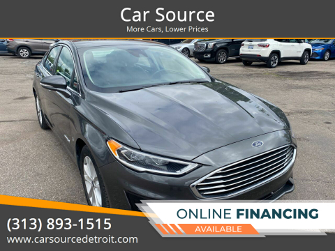 2019 Ford Fusion Hybrid for sale at Car Source in Detroit MI