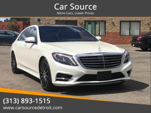 2015 Mercedes-Benz S-Class for sale at Car Source in Detroit MI