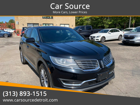 2016 Lincoln MKX for sale at Car Source in Detroit MI