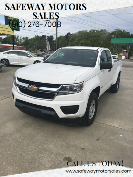 2016 Chevrolet Colorado for sale at Safeway Motors Sales in Laurinburg NC