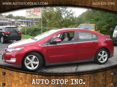 2011 Chevrolet Volt for sale at AUTO STOP INC. in Pelham NH