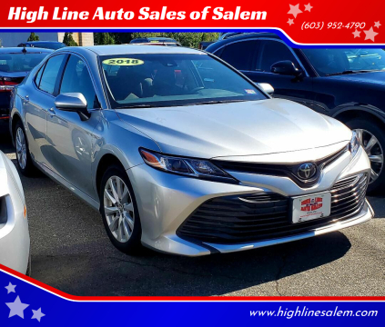 2018 Toyota Camry for sale at High Line Auto Sales of Salem in Salem NH