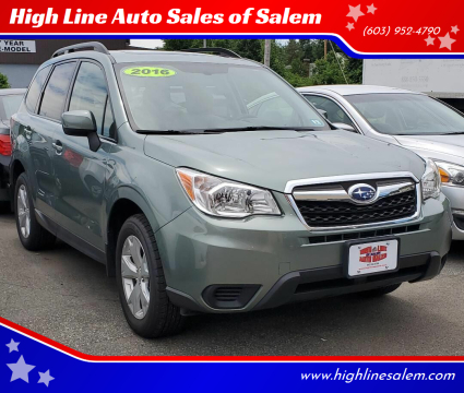 2016 Subaru Forester for sale at High Line Auto Sales of Salem in Salem NH