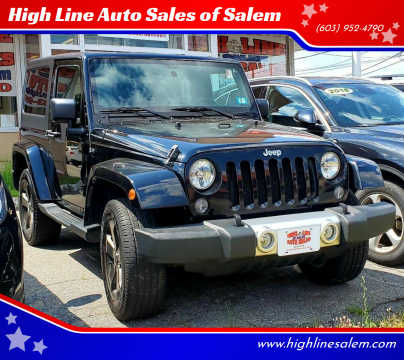 2014 Jeep Wrangler for sale at High Line Auto Sales of Salem in Salem NH