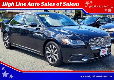 2017 Lincoln Continental for sale at High Line Auto Sales of Salem in Salem NH