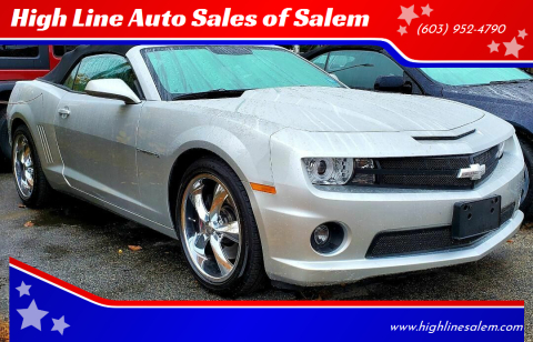 2012 Chevrolet Camaro for sale at High Line Auto Sales of Salem in Salem NH