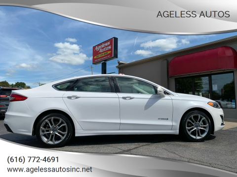 2019 Ford Fusion Hybrid for sale at Ageless Autos in Zeeland MI