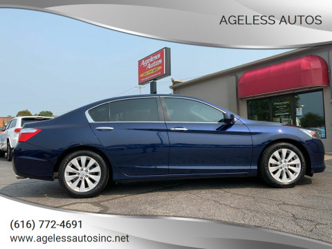 2015 Honda Accord for sale at Ageless Autos in Zeeland MI