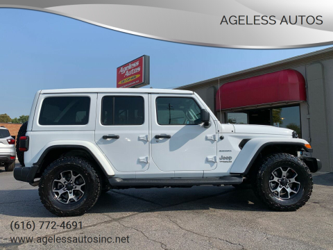 2018 Jeep Wrangler Unlimited for sale at Ageless Autos in Zeeland MI