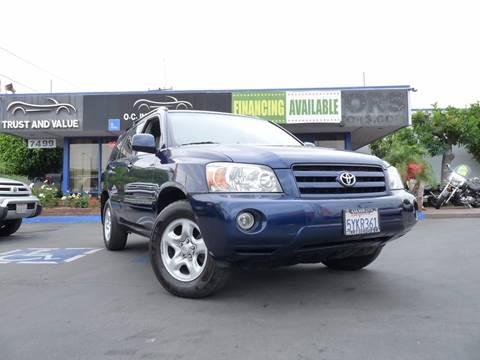 2007 Toyota Highlander for sale in Buena Park, CA