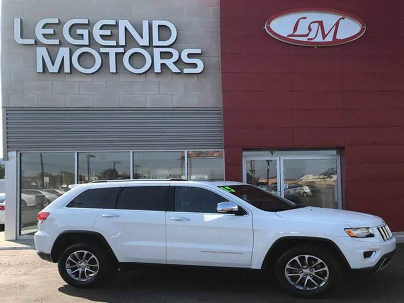 2015 Jeep Grand Cherokee  Miles 32827Color WHITE Stock 7806C VIN 1C4RJFBG3FC637988