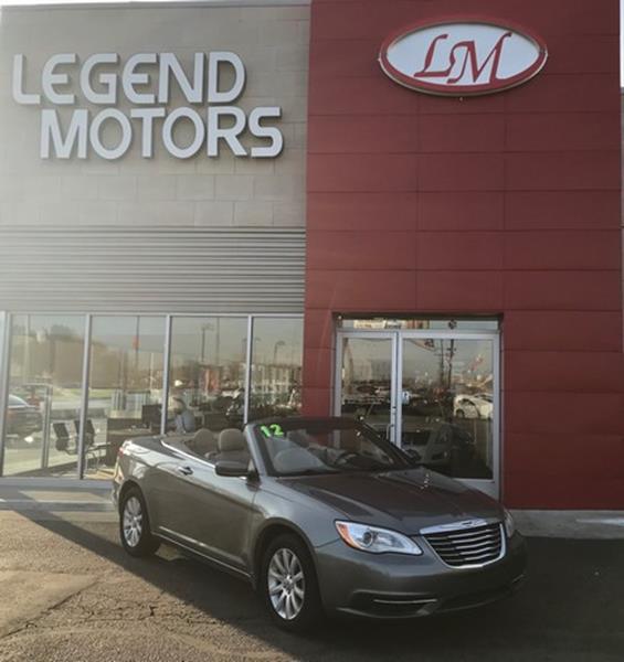 2012 Chrysler 200 Convertible  Miles 79221Color GRAY Stock 7843C VIN 1C3BCBEB5CN115923