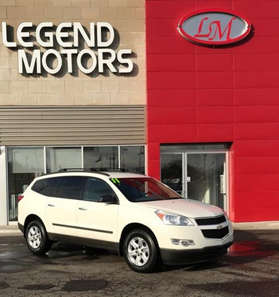 2011 Chevrolet Traverse  Miles 58276Color WHITE Stock 7901C VIN 1GNKRFED8BJ234209