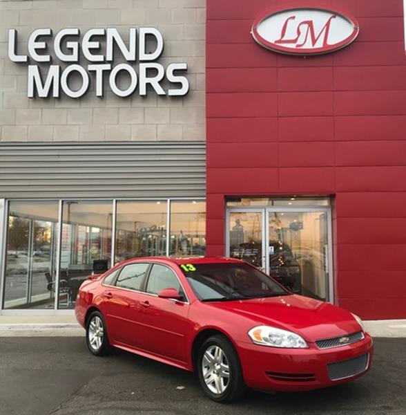 2013 Chevrolet Impala  Miles 95552Color RED Stock 7956C VIN 2G1WG5E37D1199699