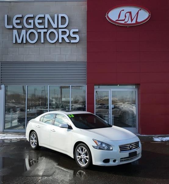 2013 Nissan Maxima  Miles 80609Color WHITE Stock 8025C VIN 1N4AA5AP2DC811027