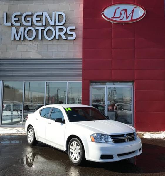2014 Dodge Avenger  Miles 64707Color WHITE Stock 8035C VIN 1C3CDZAB6EN155205
