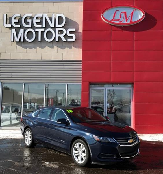 2016 Chevrolet Impala  Miles 36710Color BLUE Stock 8067C VIN 2G1105SA7G9185390