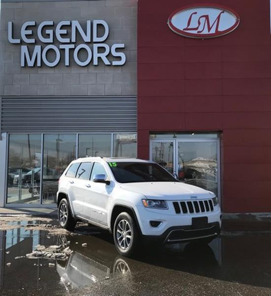 2015 Jeep Grand Cherokee  Miles 47076Color WHITE Stock 8095C VIN 1C4RJFB