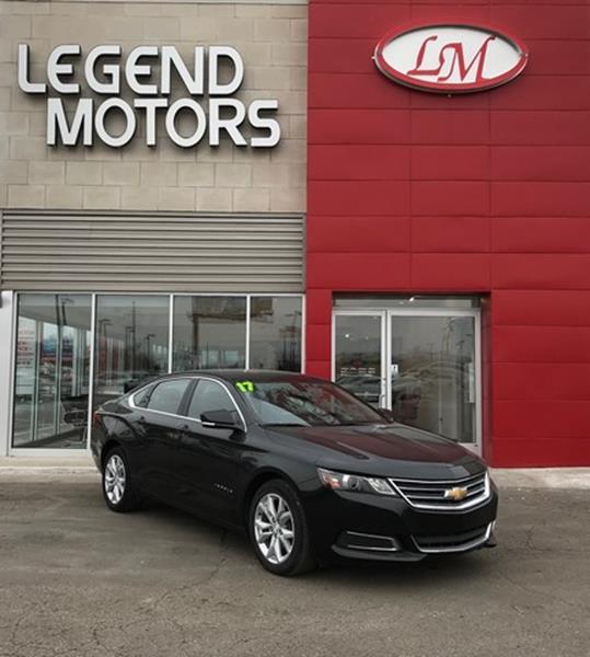 2017 Chevrolet Impala  Miles 32535Color BLACK Stock 8100C VIN 2G1105S34H