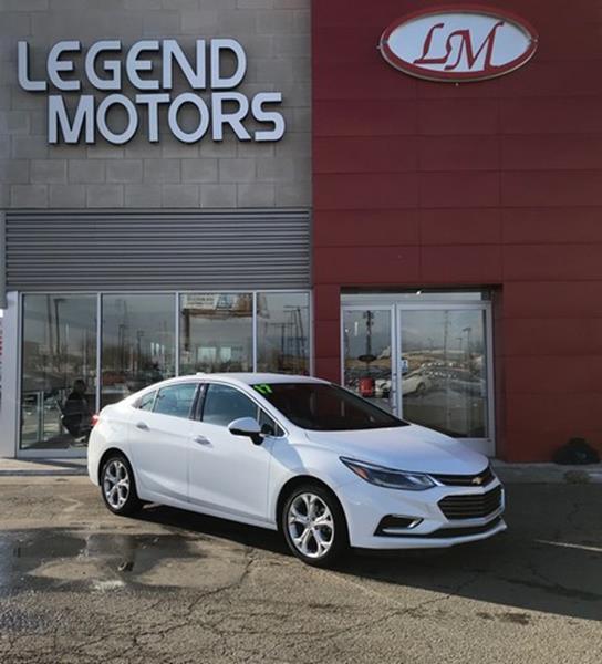 2017 Chevrolet Cruze  Miles 23105Color WHITE Stock 8115C VIN 1G1BF5SM2H7237752