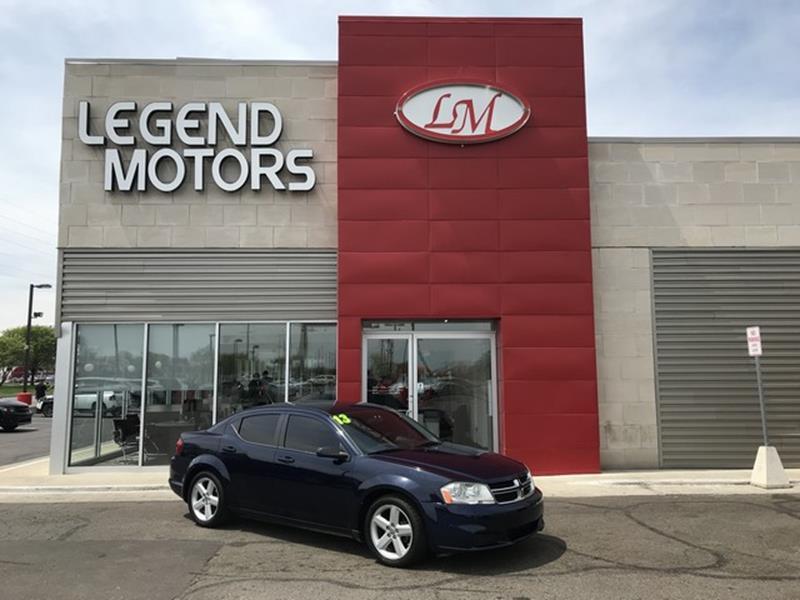 2013 Dodge Avenger  Miles 65522Color BLUE Stock 8396C VIN 1C3CDZAB6DN563556