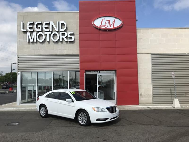 2013 Chrysler 200  Miles 85030Color WHITE Stock 8390C VIN 1C3CCBBG9DN658794