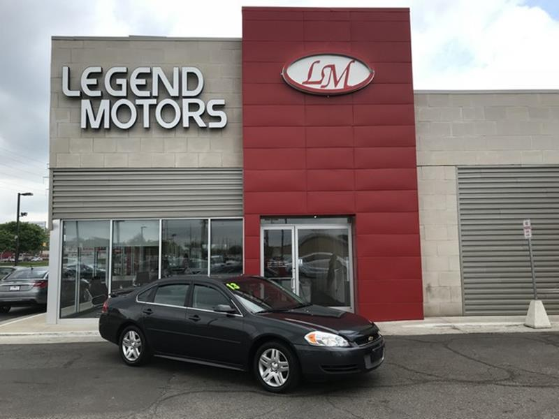 2013 Chevrolet Impala  Miles 81571Color GRAY Stock 8412C VIN 2G1WG5E37D1159252