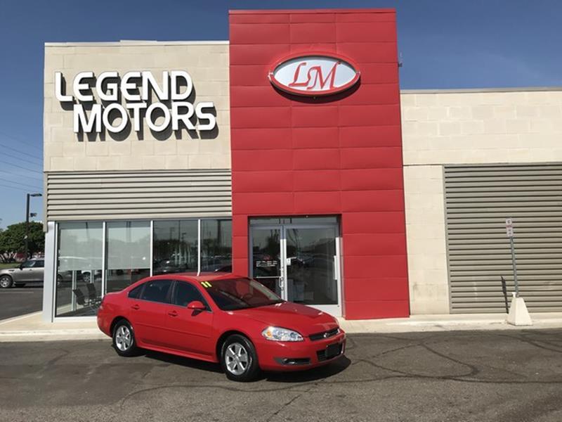 2011 Chevrolet Impala  Miles 75691Color RED Stock 8432C VIN 2G1WG5EK7B1240868