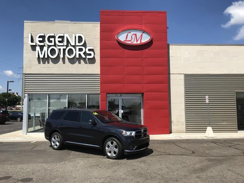2014 Dodge Durango  Miles 71187Color BLACK Stock 8505C VIN 1C4RDJDG9EC468727