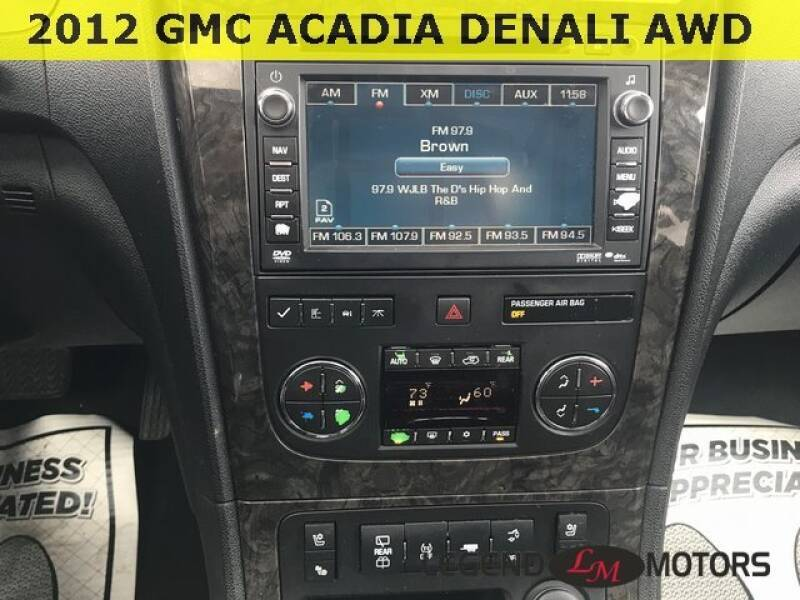 2012 Gmc Acadia Detroit Used Car for Sale