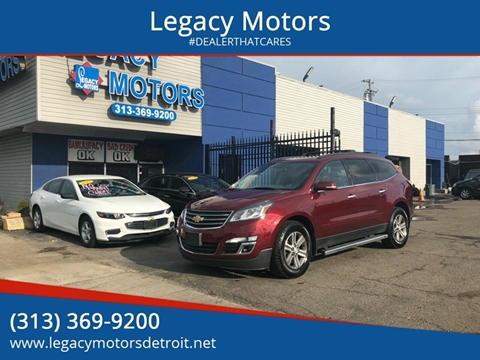 2015 Chevrolet Traverse for sale at Legacy Motors in Detroit MI
