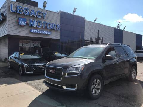 2015 GMC Acadia for sale at Legacy Motors in Detroit MI