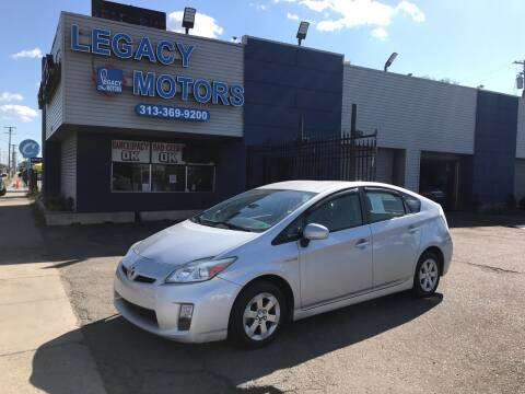 2011 Toyota Prius for sale at Legacy Motors in Detroit MI