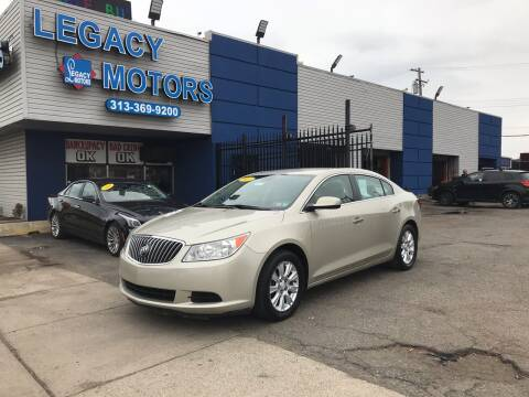 2013 Buick LaCrosse for sale at Legacy Motors in Detroit MI