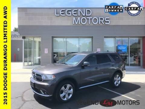 2015 Dodge Durango for sale at Legend Motors of Detroit - Legend Motors of Waterford in Waterford MI