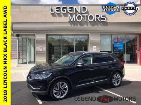 2018 Lincoln MKX for sale at Legend Motors of Detroit - Legend Motors of Waterford in Waterford MI