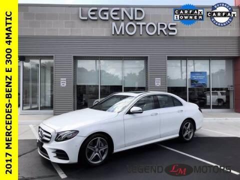 2017 Mercedes-Benz E-Class for sale at Legend Motors of Detroit - Legend Motors of Waterford in Waterford MI