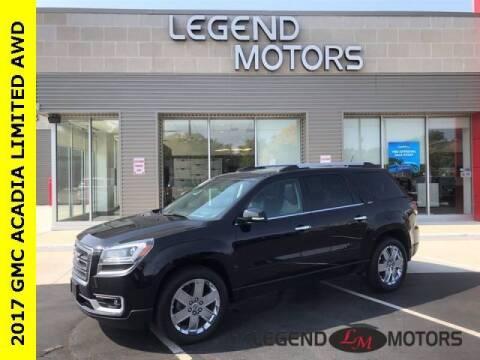 2017 GMC Acadia Limited for sale at Legend Motors of Detroit - Legend Motors of Waterford in Waterford MI