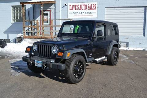 2004 Jeep Wrangler Unlimited for sale at Dave's Auto Sales in Winthrop MN