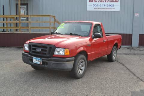 2004 Ford Ranger for sale at Dave's Auto Sales in Winthrop MN
