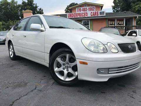 2003 Lexus GS 300 for sale at Underpriced Cars in Marietta GA
